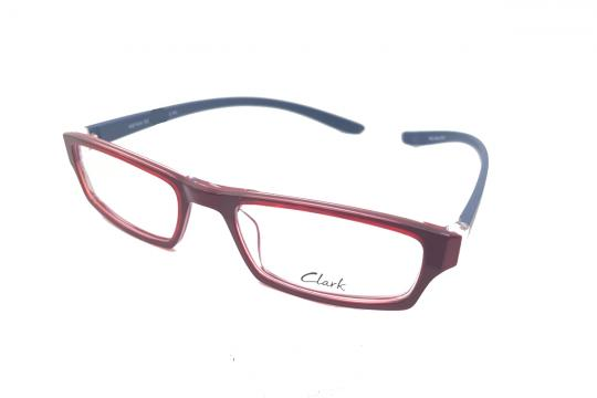 Lesebrille Clark Rot transparent / Blaue Bügel